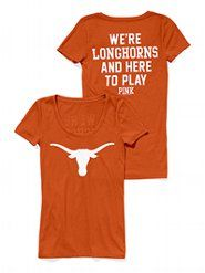 UT! <3 im so gonna make this soon!! Im going to use my UT shirt just like this one with the long horn and get iron on letters and put this!!! :) <33
