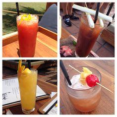 Other half's cocktails @ Potato Head Beach Club , Seminyak, Bali |Living in Sin