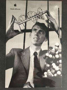 #apple computer ad campaign think different dna biologist dr.james watson poster from $35.0