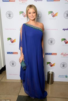 Royal blue: Holly Candy prepared to meet important guests Prince Charles and Camilla, Duchess of Cornwall, at the British Asian Trust dinner in London on Tuesday Holly Valance, British Asian, Australian People, Kaftan Style, Prince Charles And Camilla, Infinity Dress, Duchess Of Cornwall, Celebrity Style, Fashion Dresses