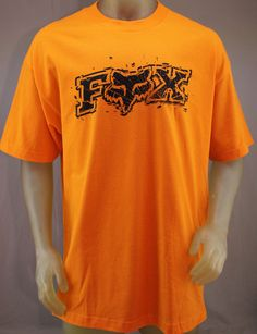 Fox Racing orange T-shirt with black logo