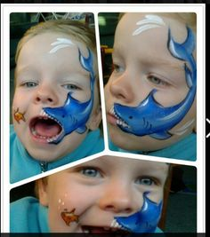 cute shark...quickly but nicely shaded.  Starlets face painting