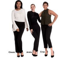 The Original Little Black Pant powered by Fitlogic® Smart Business Casual, Business Casual Attire, 60 Fashion, Plus Size Fashion, Dresser, Spandex Dress, Skin Tight, Skinny Pants