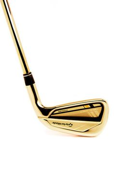 Taylor Made 24 K Rose Gold Four Iron Gold Club  by GOLDGENIE Now Available on Moda Operandi