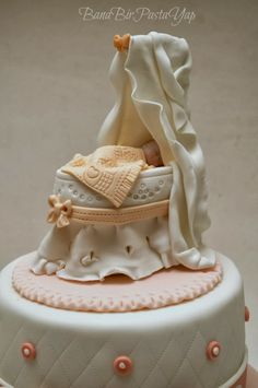 baby cradle cake topper