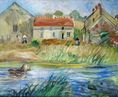 Charles Camoin - La ferme au bord de rivière