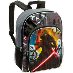 16 inch Lucas Star Wars Episode 7 Full Size Backpack, Black