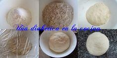 Una diabética en la cocina: Pan casero con harina integral de trigo y sus raciones de hidratos de carbono