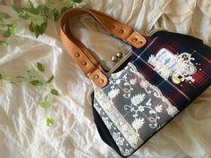 万莉さんのポケットがま口バッグ完成☆*160902 | アンティークレースのハンドメイドバッグと雑貨 Orange Pekoe(オレンジペコ)