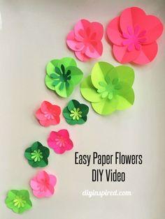 Easy Paper Flowers DIY One Minute Video Tutorial