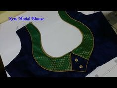 Grand Sewing Embroidery Designs At Home Ideas. Beauteous Finished Sewing Embroidery Designs At Home Ideas. Patch Work Blouse Designs, Simple Blouse Designs, Blouse Back Neck Designs, Stylish Blouse Design, Sari Blouse Designs, Designer Blouse Patterns, Blouse Styles, Churidar Neck Designs, Saree Blouse