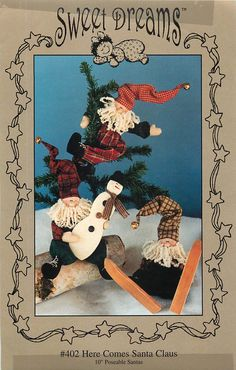 Here Comes Santa Claus; a Sewing Pattern by Sweet Dreams by CarlasHope on Etsy