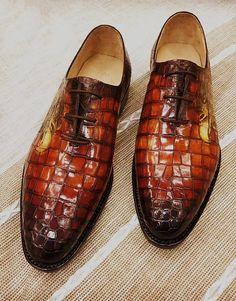 Alligator Oxford Alligator Leather Dress Shoes for Men 94b3ebdfbfa9