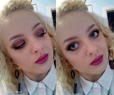 Purple make up