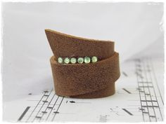 Statement Leather Ring Cocktail Party Ring by ChrisOsCreations, €9.50