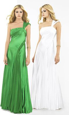 Draped satin with pleating $198