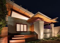 Queens Park Wooden Roof Residence in Sydney, Australia by CplusC Architects and Builders