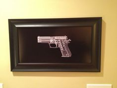 Sig P220 pistol CAT scan - ready to frame on Etsy, $39.95
