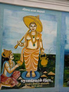Singaravelar Temple - Sikkal - Tamilnadu - India - wall painting