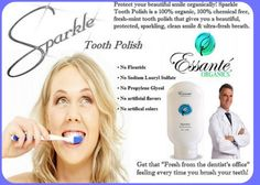 Sparkle tooth polish by Essante Organics from Mainely Organic!