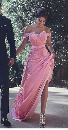Off the shoulder Lace Sexy Long Prom Dress,Evening Dress,Prom Dresses Lace Prom Dress Prom Dresses Sexy Prom Dress Evening Dresses Long Prom Dresses 2019 Pink Prom Dresses, Pretty Dresses, Homecoming Dresses, Beautiful Dresses, Dress Prom, Dress Lace, Long Dresses, Dresses Dresses, Party Dress