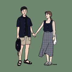 Cute Couple Drawings, Cute Couple Art, Cute Drawings, Cute Couples, Couple Illustration, Character Illustration, Illustration Art, Love Cartoon Couple, Minimal Drawings