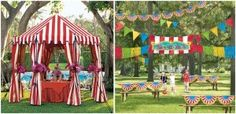 Tents and bunting