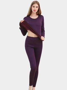 Best Thermal Underwear Thickened Plush Solid Color Long Pajamas online, sexy and hot Thermal Underwear Thickened Plush Solid Color Long Pajamas is hot sale at NewChic Plus Size Nighties, Plus Size Sleepwear, Plus Size Pajamas, Cotton Sleepwear, Sleepwear Women, Pajamas Women, Best Thermal Underwear, Womens Christmas Pajamas, Puppies In Pajamas