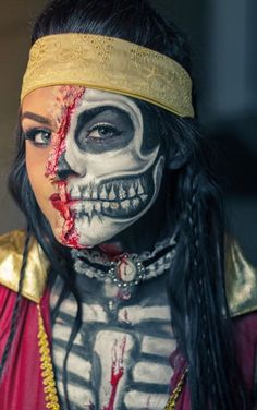 Zombie pirate makeup by @carahcott