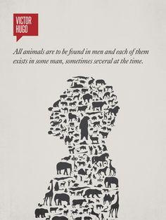 Minimalist Poster Quote Victor Hugo