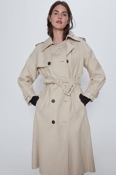 Tweed, Rain Fashion, Zara Spain, Zara Home Stores, Double Breasted Trench Coat, Raincoats For Women, Fasion, Printed Shirts, What To Wear