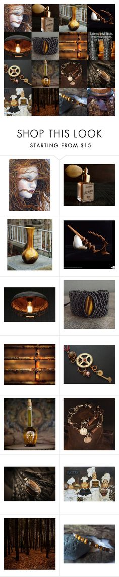 """Rich Brown"" by andreadawn1 ❤ liked on Polyvore featuring For Strange Women and REMINISCENCE"