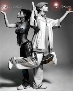 """Ana """"Rokafella"""" Garcia  and Gabriel """"Kwikstep"""" Dionisio. Husband and wife. Hip hop dance royalty. Google them...to much to write here. If you have the pleasure of taking class with them, you will have learned from the best."""