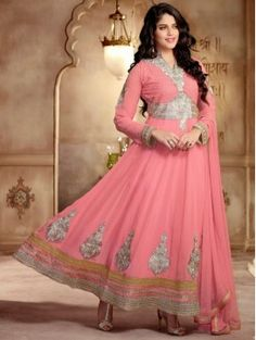 Pink Anarkali Suit Churidar