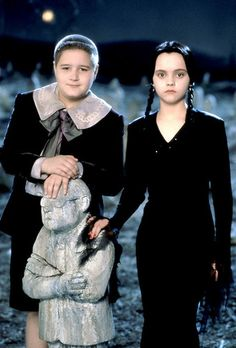 Pugsley and Wednesday Addams - a pose for a sibling portrait.