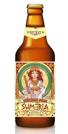 Cerveja Suméria Bilbat, estilo German Pilsner, produzida por Cervejaria Suméria, Brasil. 4.7% ABV de álcool.