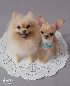 needle felted Dogs - this one is especially for my Koeked Sis (She knows who she is).