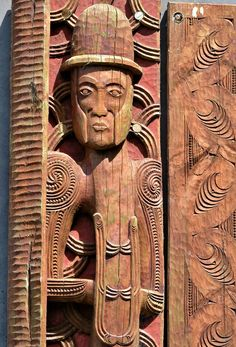 Archdeacon Alfred Brown Pou in Tauranga, New Zealand - Encircle Photos Tauranga New Zealand, Maori People, Wooden Posts, Art Walk, Police Station, Carving, Faith, Display, Statue
