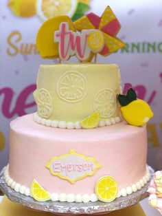 pink lemonade This adorable pink lemonade birthday party is full of SO many precious details, from the rosette backdrop to the party table to the beautiful lemonade birthday cake! My swe Special Birthday, First Birthday Parties, Girl Birthday, First Birthdays, Birthday Cake, Yellow Party Themes, Pink Lemonade Party, Pink Carnations, Birthday Backdrop