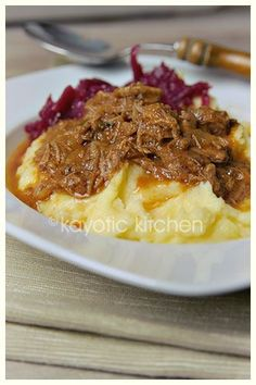Hachee : beef and onion stew with apples, similar to beouf bourginon. Served with mashed potatoes.