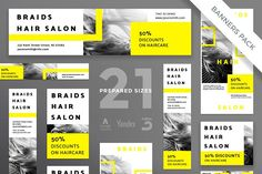 Banners Pack | Braids Hair Salon by Amber Graphics on @creativemarket