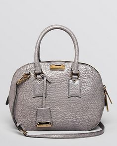 Burberry Heritage Vintage Small Orchard Bowling Mid Grey Melange Satchel; $1,495.00