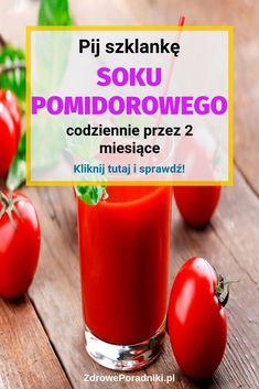 Pij szklankę soku pomidorowego codziennie przez 2 miesiące Smoothie Detox, Smoothies, Food And Drink, Vegetables, Drinks, Health, Salud, Health Care, Smoothie Packs