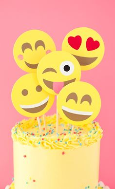Emoji party cake (A Subtle Revelry)