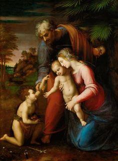 Raffaello - Sacra famiglia con San Giovannino - circa 1513-1514 - Kunsthistorisches Museum, Vienna