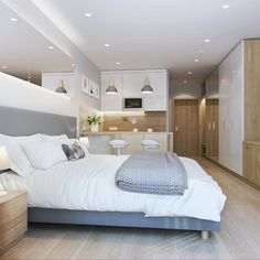 Квартира-студия: дизайн интерьера Kitchen Furniture, Furniture Design, Micro Apartment, Bathroom Storage, Decoration, Condo, Interior Design, Home Decor, Vintage