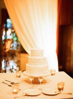 White Lace Wedding Cake   photography by http://www.buffydekmar.com/