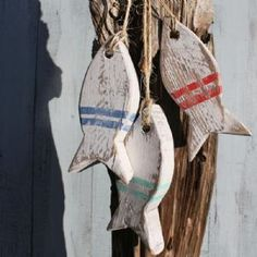 Painted Fish Hanging | Wooden Fish