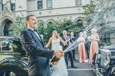 Popping bottles at MLC Photo by Fresh Photography #weddingcars #melbourneweddingideas #weddinginspo #weddingphotographymelbourne #rollsroyce #jaguar #champagne #celebration