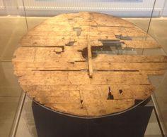 "irisharchaeology: "" Viking Age shield from Trelleborg, Denmark. Made from pine wood & diameter of c. 80 cm """